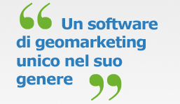 un software di geo-marketing unico nel suo genere